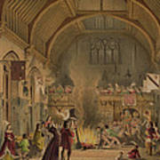Banquet In The Baronial Hall, Penshurst Poster