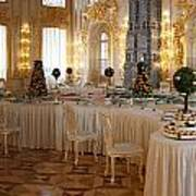 Banquet Room Summer Palace St Petersburg Russia Poster
