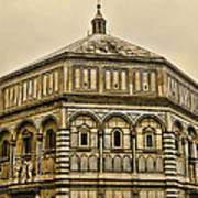 Baptistry - Florence Italy Poster