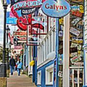 Bar Harbor Sidewalk Poster