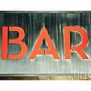 Bar Sign Poster