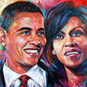 Barack And Michelle Obama Poster