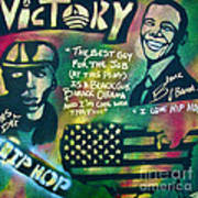 Barack And Mos Def Poster by Tony B Conscious