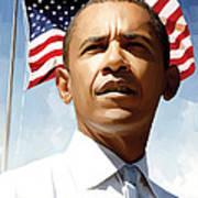 Barack Obama Artwork 1 Poster by Sheraz A