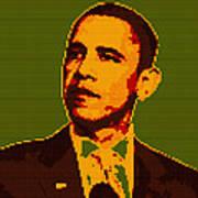 Barack Obama Lego Digital Painting Poster