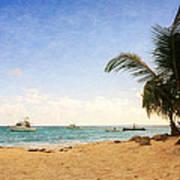 Barbados Beach Poster