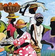 Barbados Market 3  Wi Poster