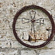 Barbed Wire Cross Poster