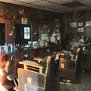Barber - Barber Shop With Sun Streaming Through Window Poster