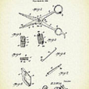 Barber Shears Patent 1927 Poster