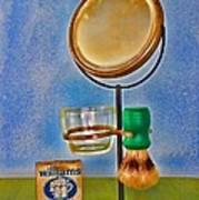 Barber - The Shaving Mirror Poster