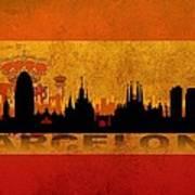 Barcelona City Poster