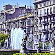 Barcelona Fountain Poster