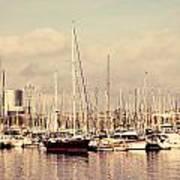Barcelona Harbor - Vertical Poster