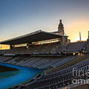 Barcelona Olympic Stadium Poster