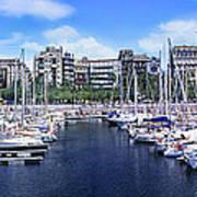 Barcelona Spain Port Vell Marina 3 Poster