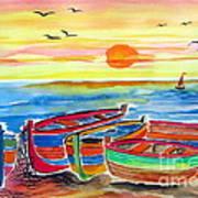 Barche Dei Pescatori  Poster