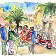 Bargaining Tourists In Siracusa Poster