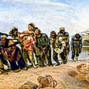 Barge Haulers On The Volga 1870-1873 Poster