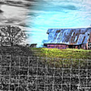 Barn 23 - Featured In Comfortable Art  And Artists Of Western Ny Groups Poster
