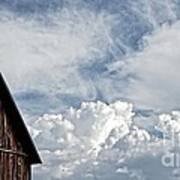 Barn And Clouds Poster