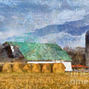 Barn And Silo In West Virginia Poster