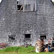 Barn And Tractor Pei Poster