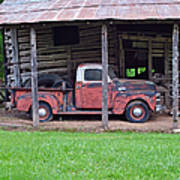 Barn And Truck  Poster