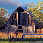 Barn At Ash Flat Arkansas Poster