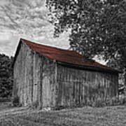 Barn At Avenel Plantation - Red Roof Poster by Steve Hurt