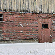 Barn Door In Winter Poster