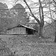 Barn In Black Poster