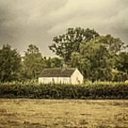 Barn In Corn Field Poster