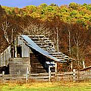 Barn In Fall Poster by Marty Koch