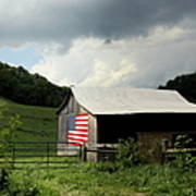 Barn In The Usa Poster by Karen Wiles