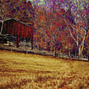 Barn In The Woods-featured In Barns Big And Small Group Poster