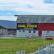 Barn - Mail Pouch Tobacco Poster