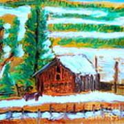 Barn Near Loa Utah 1 Poster by Richard W Linford
