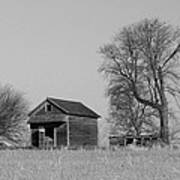 Barn On A Hill In Iowa Poster