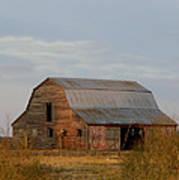 Barn On The Prairie Poster