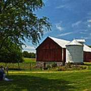 Barn Painting Poster by Guy Shultz
