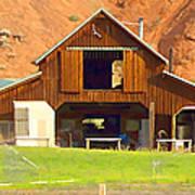 Barn Ten Sleep Wyoming Poster