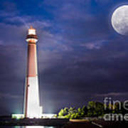 Barnegat Lighthouse Super Moon Poster