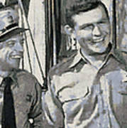 Barney Fife And Andy Taylor Poster