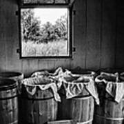 Barrels Of Beans - Bw Poster