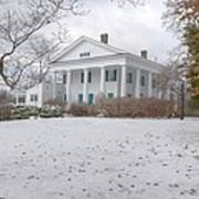 Barrington Hall In The Snow Poster