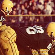 Bart Starr Ready For Snap Poster