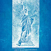 Bartholdi Statue Of Liberty Patent Art 1879 Blueprint Poster