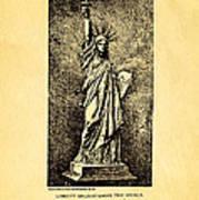 Bartholdi Statue Of Liberty Patent Art 1879 Poster by Ian Monk