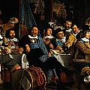Bartholomeus Van Der Helst Banquet Of The Amsterdam Civic Guard In Celebration Of The Peace Of Munst Poster